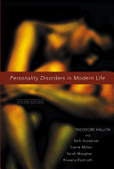 Personality Disorders in Modern Life Cover